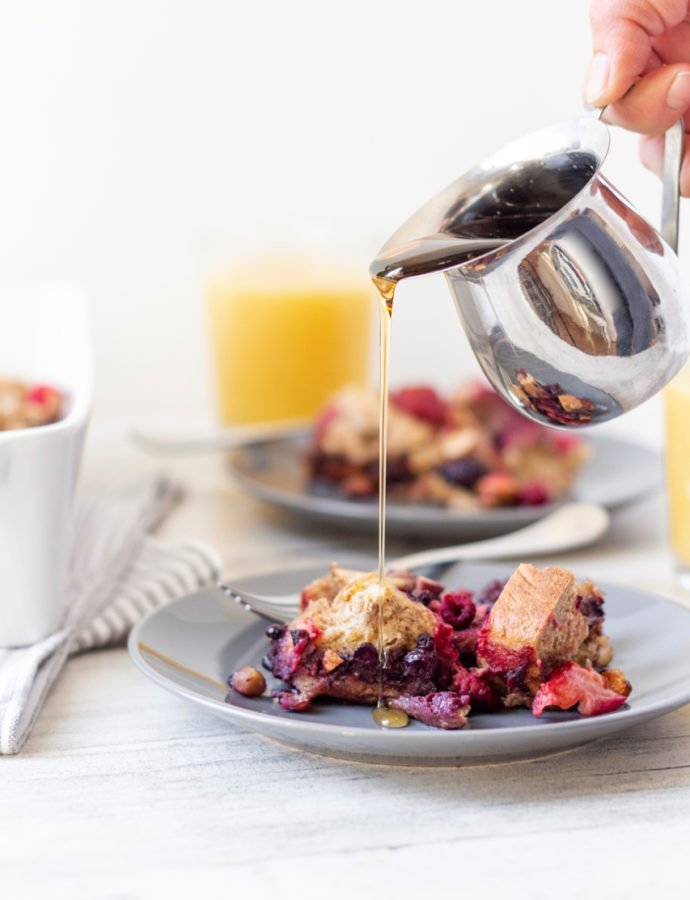 Make-Ahead Berry and Almond French Toast Casserole