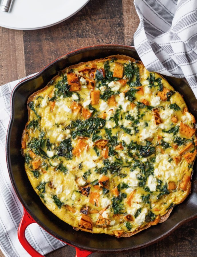 Sweet Potato and Kale Frittata