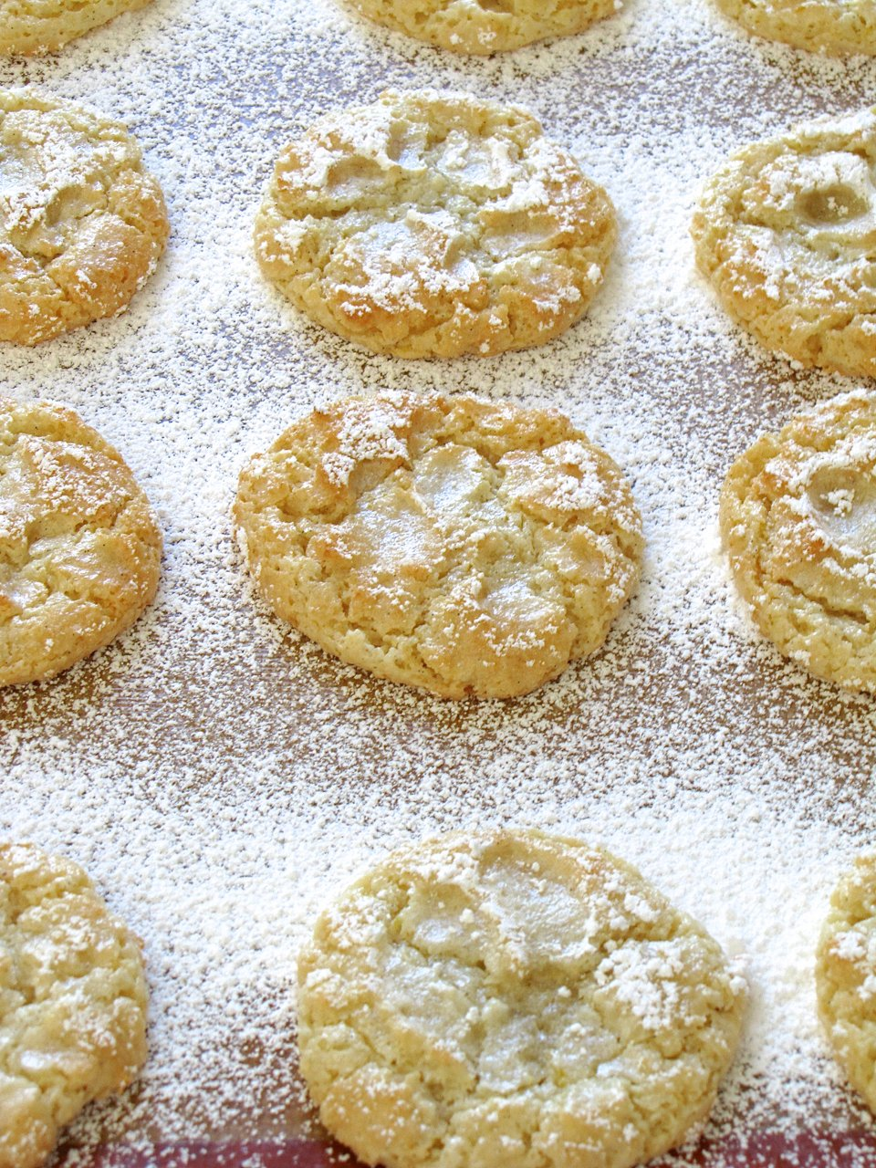 Vanilla Almond Orange Cloud Cookies