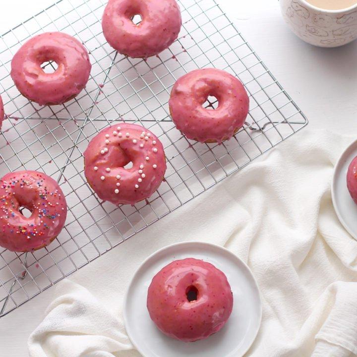 Baked Blood Orange Donuts