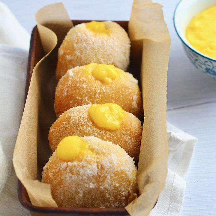 Baked Lemon Curd Filled Donuts