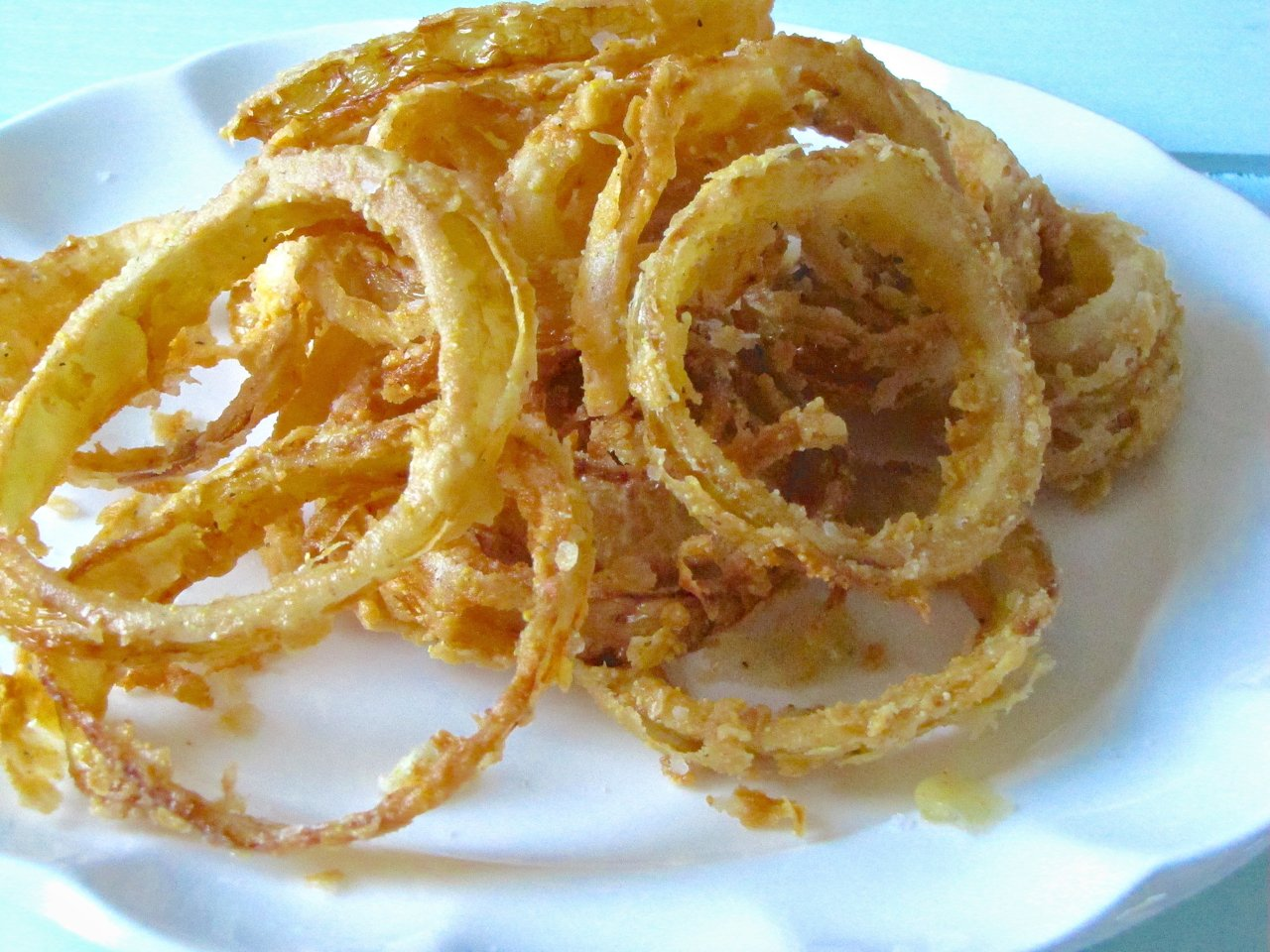 Cornmeal-Fried Onion Rings