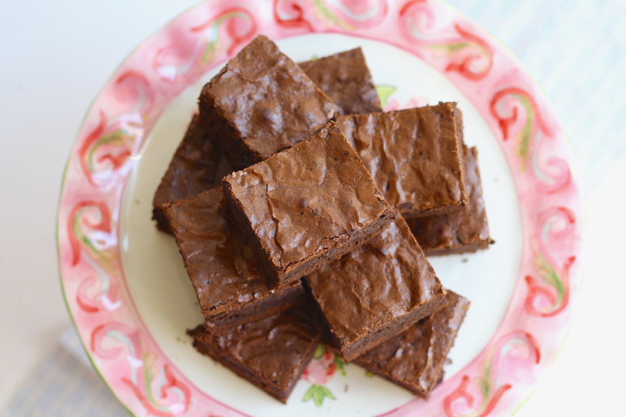 Chewy, Fudgy Triple Chocolate Brownies