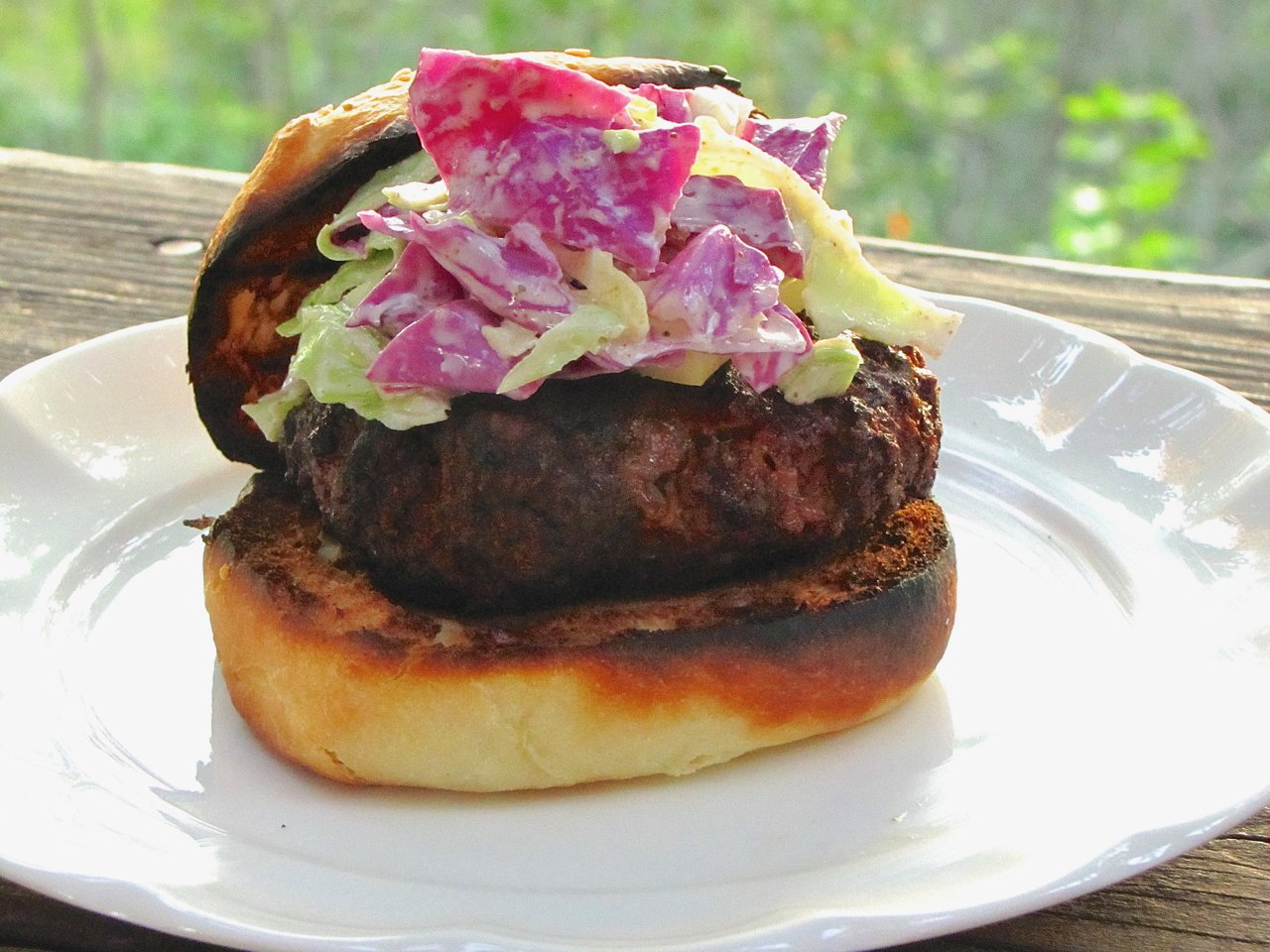 Chorizo Burgers with Slaw