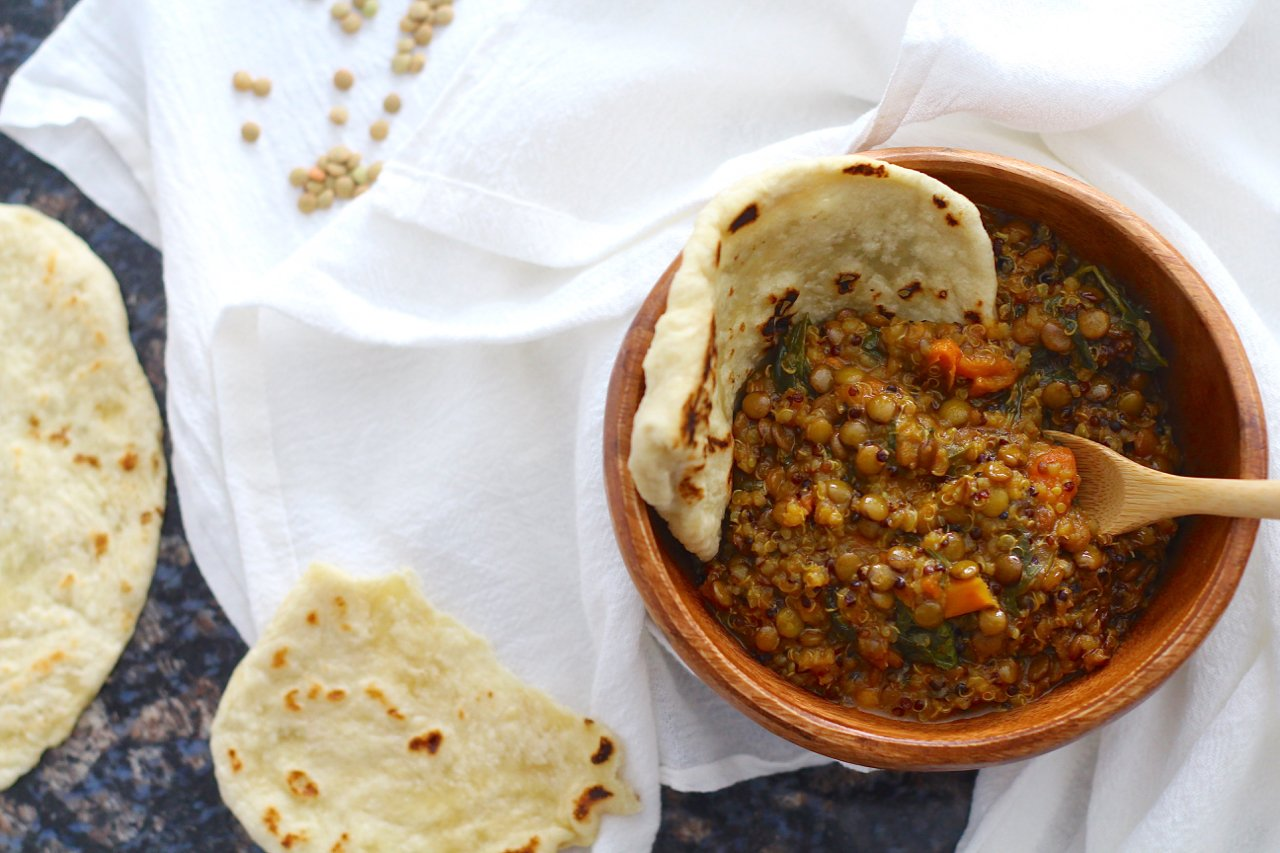 Coconut Quinoa and Lentil Curry