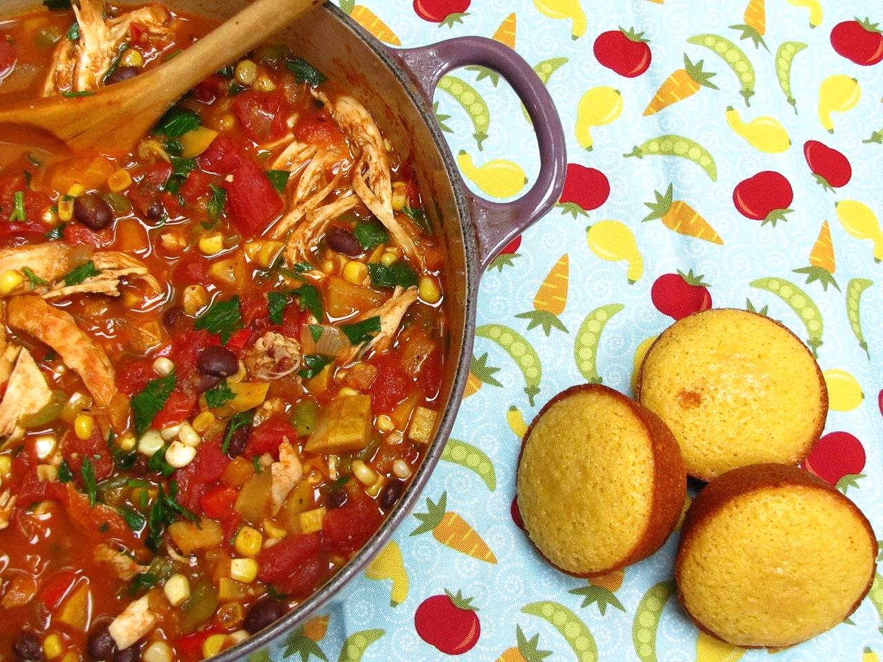 End of Summer Herby Chicken Chili