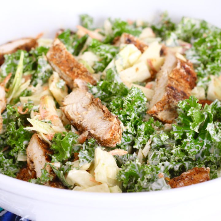 Grilled Chicken with Kale Slaw