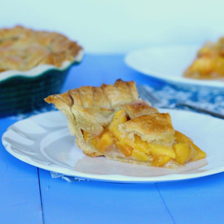 Peach Vanilla Bean Pie