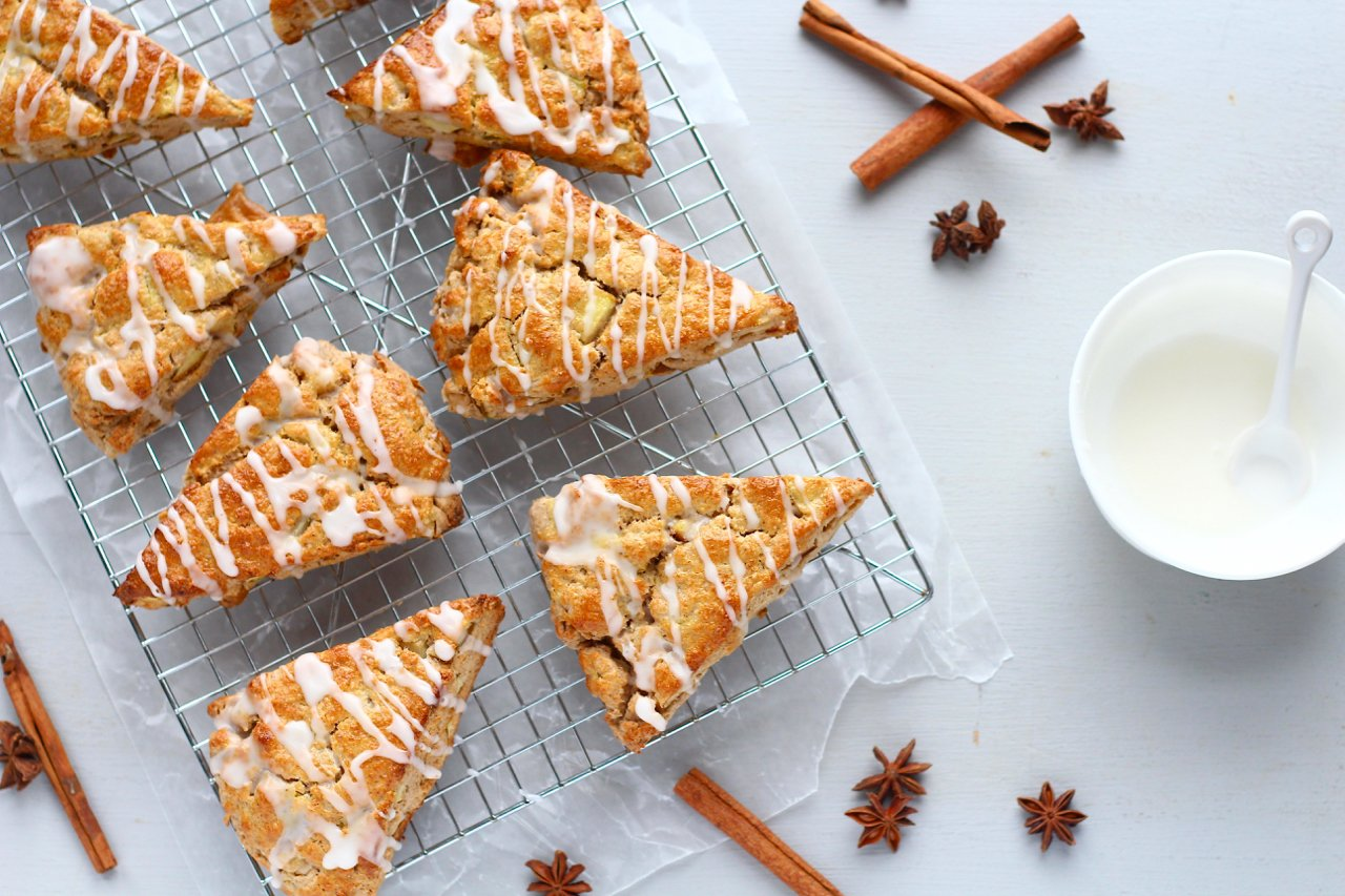 Pear Chai Spiced Scones