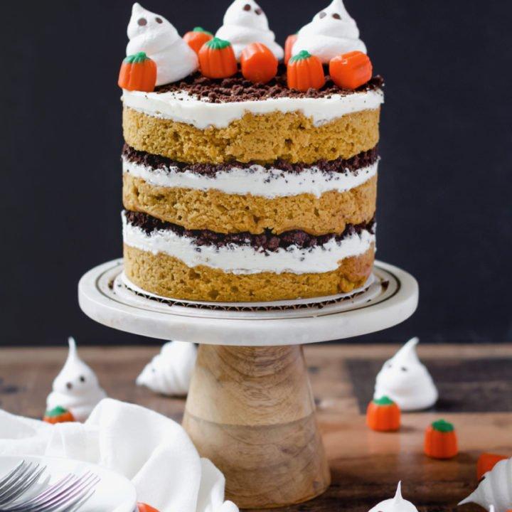 Pumpkin, Maple and Chocolate Cake