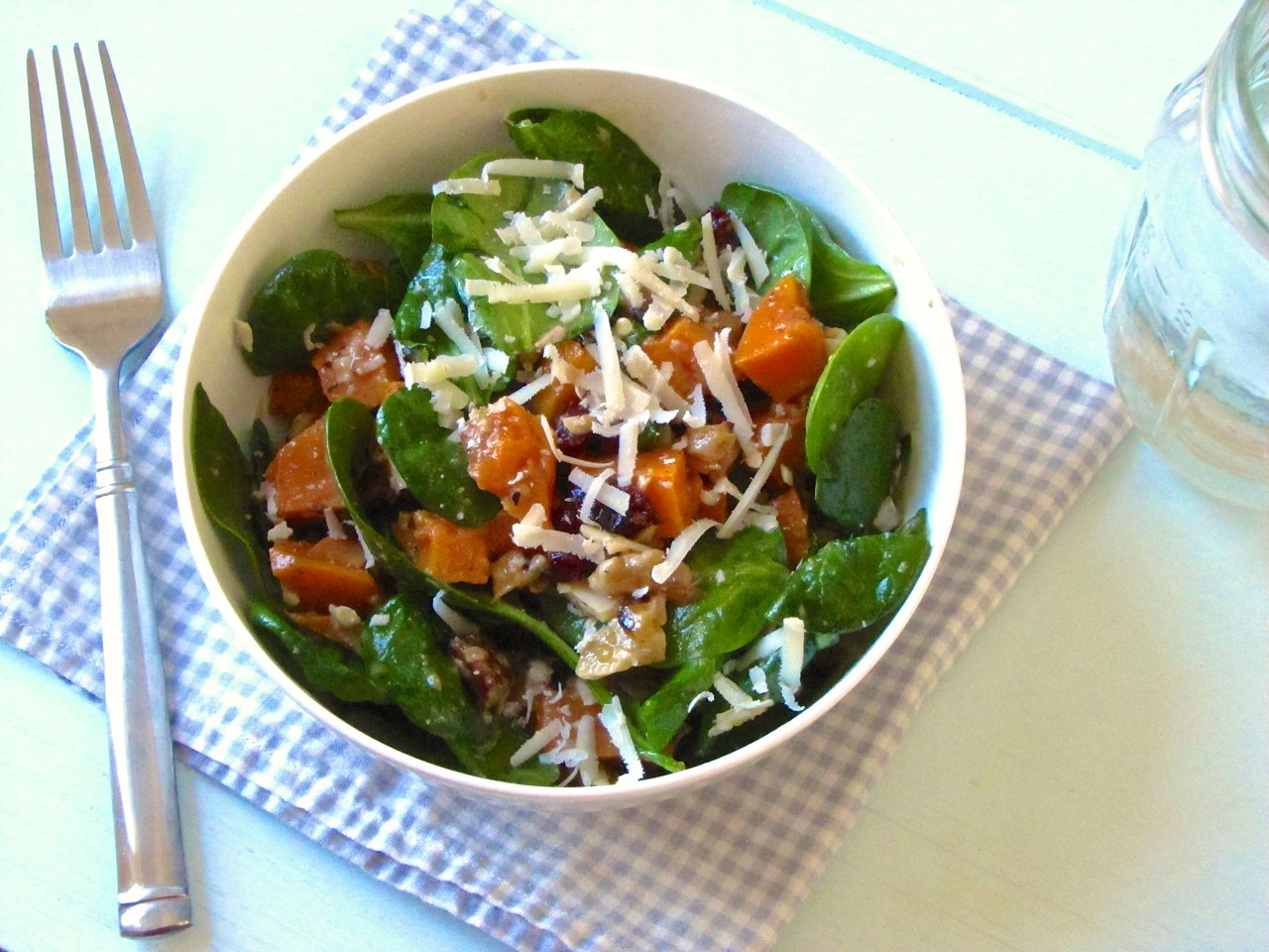 Roasted Sweet Potato Salad with Warm Cider Vinaigrette