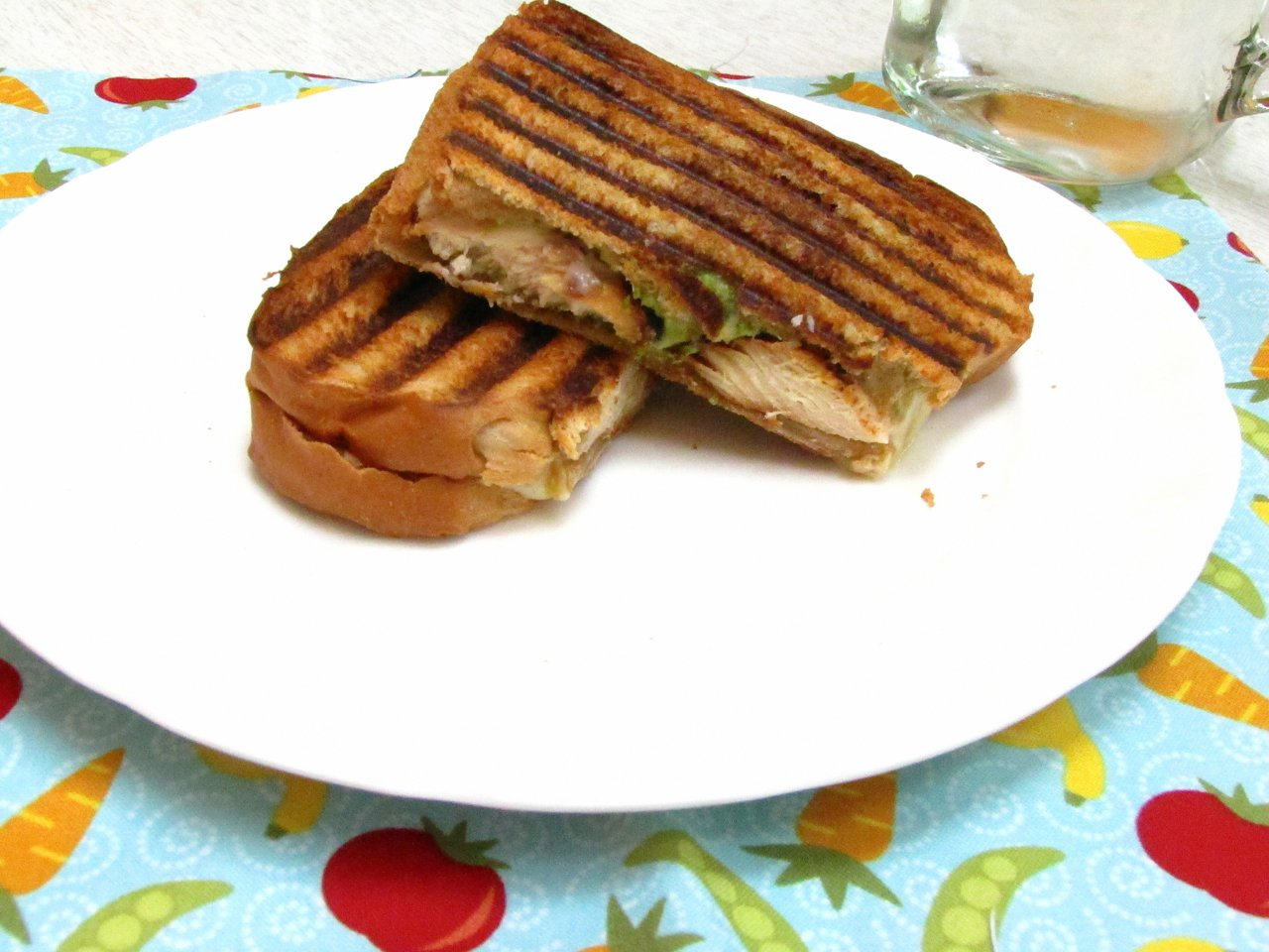 Scape Pesto Chicken Grilled Cheese