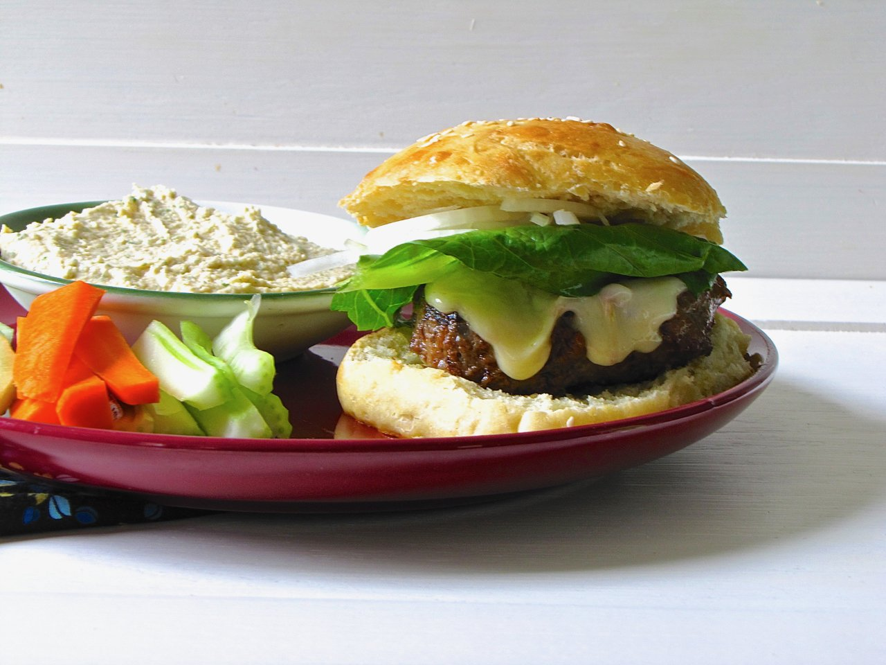 Spice Stuffed Hamburgers