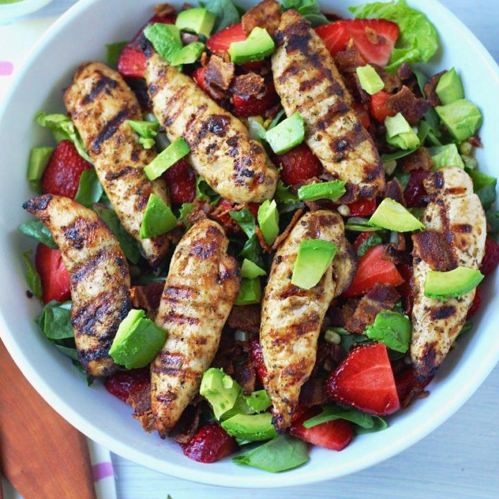 Summer Chipotle Chicken Cobb Salad with Cilantro Vinaigrette