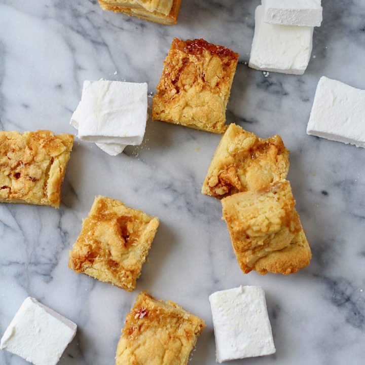 Toasted Marshmallow Cookie Bars