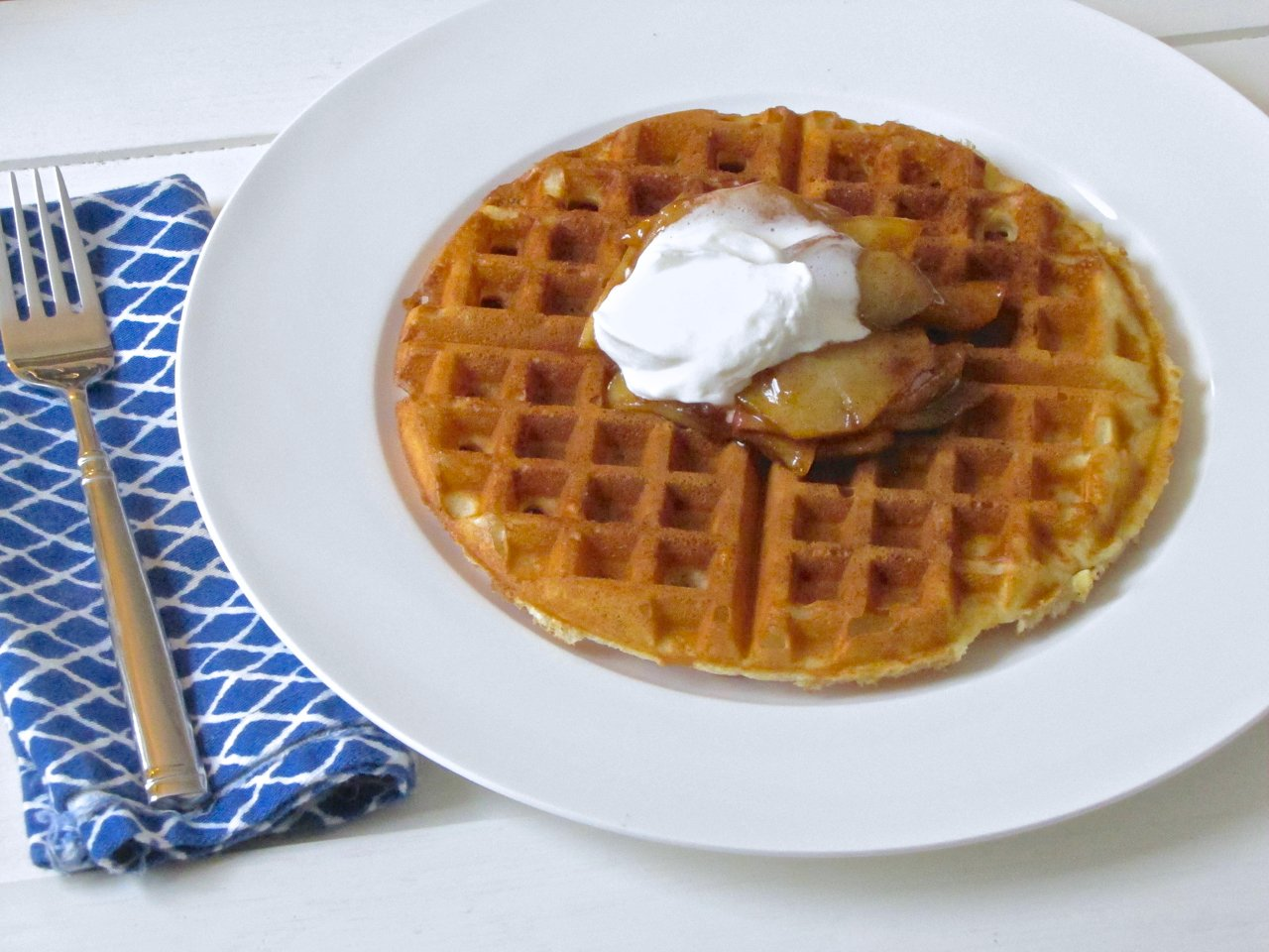 Waffles of Insane Greatness with Caramelized Apples