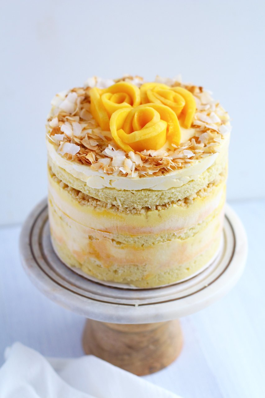 Coconut Mango Layer Cake
