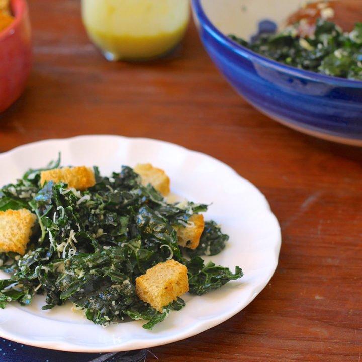 Massaged Kale Caesar Salad