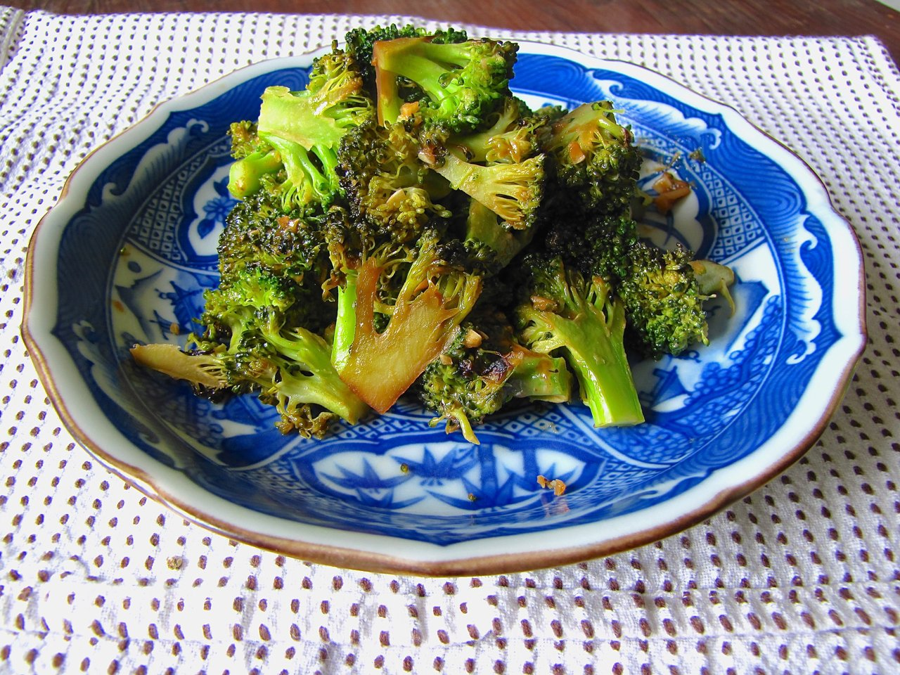 Pan Roasted Broccoli with Asian Flavors