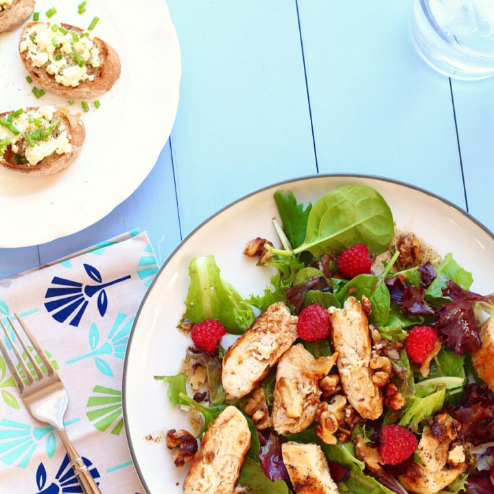 Grilled Balsamic Chicken Salad