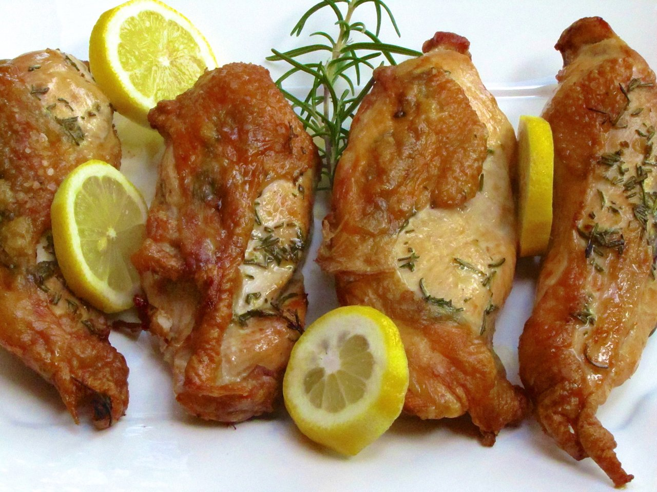 Simple Baked Chicken Breasts with Lemon and Rosemary