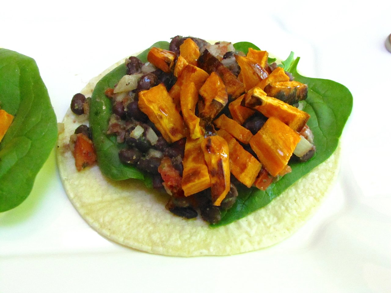 Black Bean and Sweet Potato Tostadas