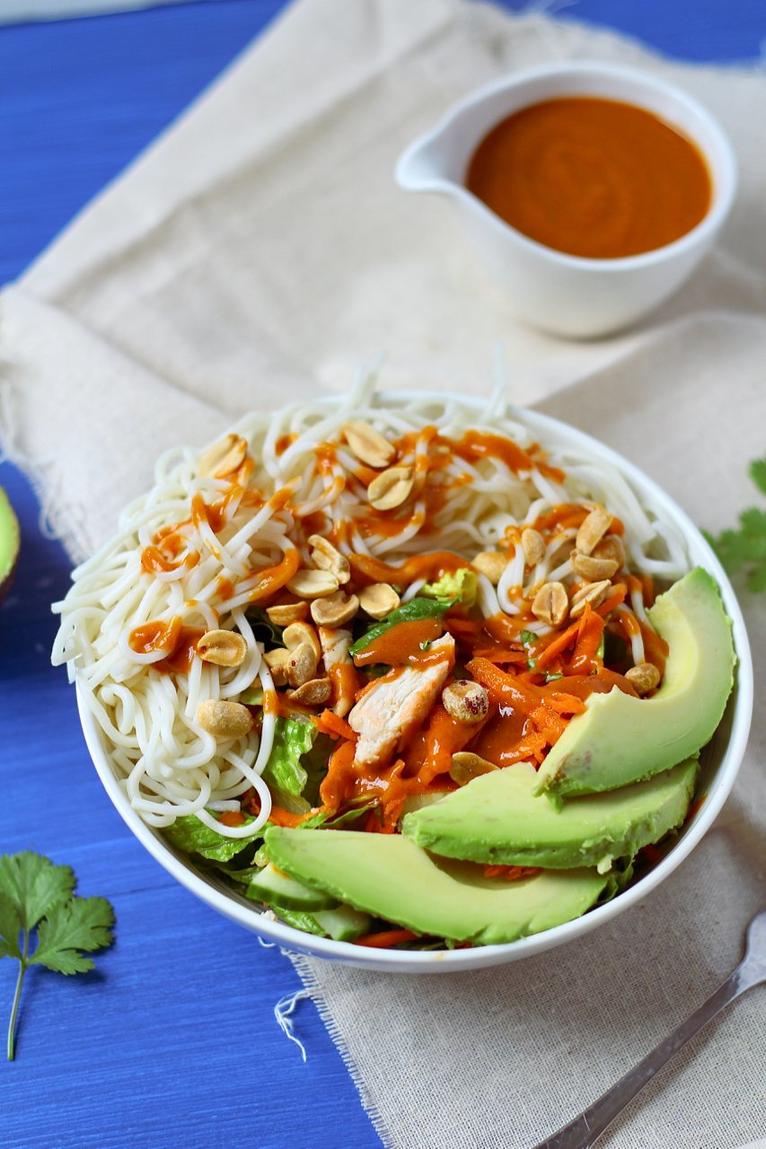 Thai Peanut Chicken Ramen Noodle Salad