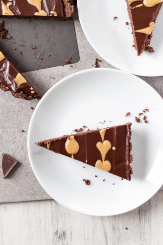 Chocolate Peanut Butter Tart slices