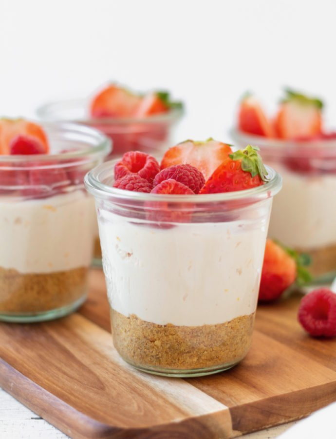 No-Bake Blood Orange Cheesecake Jars