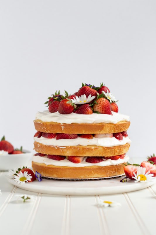 Strawberry Shortcake Cake front view