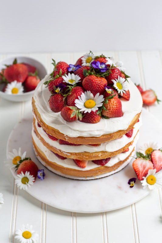 strawberry shortcake cake 45 angle