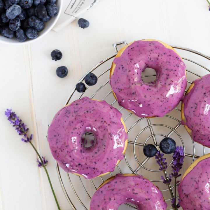 Baked Lavender Blueberry Donuts