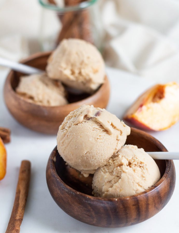 Cinnamon Peach Ice Cream