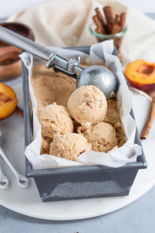 Cinnamon Peach Ice Cream