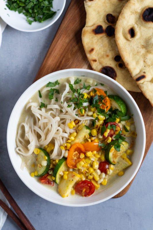 Healthy Thai green summer curry
