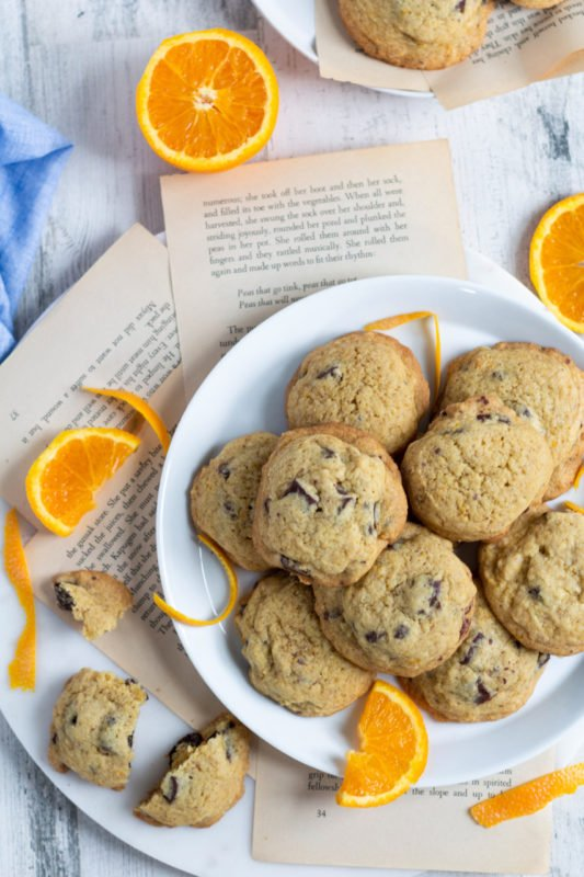 Soft and Chewy Orange Chocolate Chunk Cookies