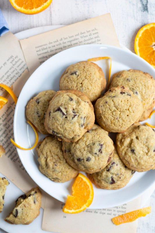 Soft and Chewy Orange Chocolate Chunk Cookies