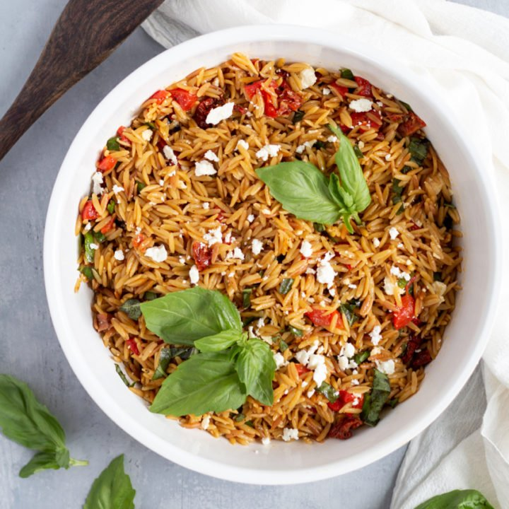 Orzo with Sun-Dried Tomatoes and Feta
