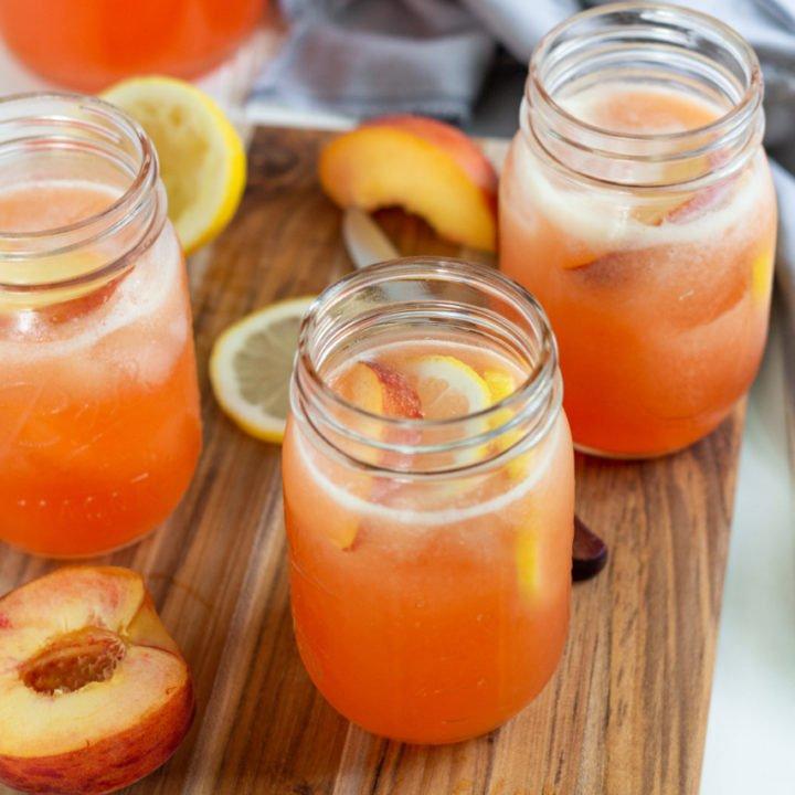 Simple Peach Lemonade