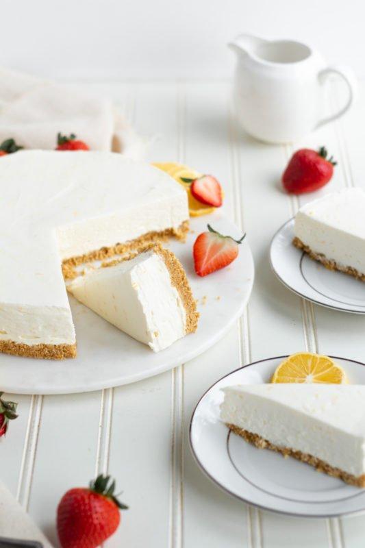 Meyer Lemon Cream Pie 45 angle