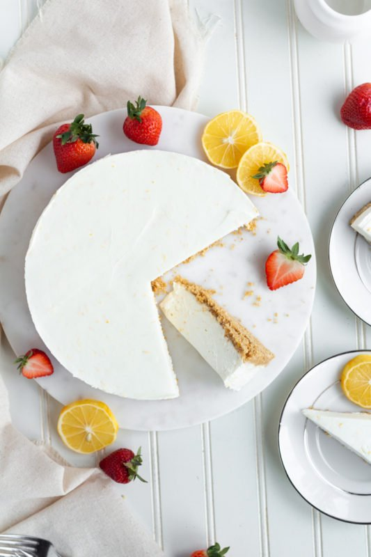 Meyer Lemon Cream Pie overhead