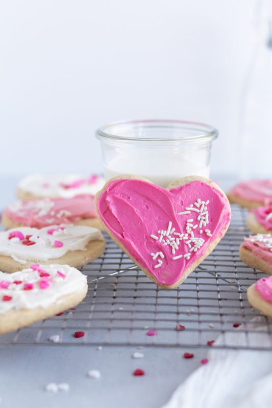 Almond Sugar Cookies single heart