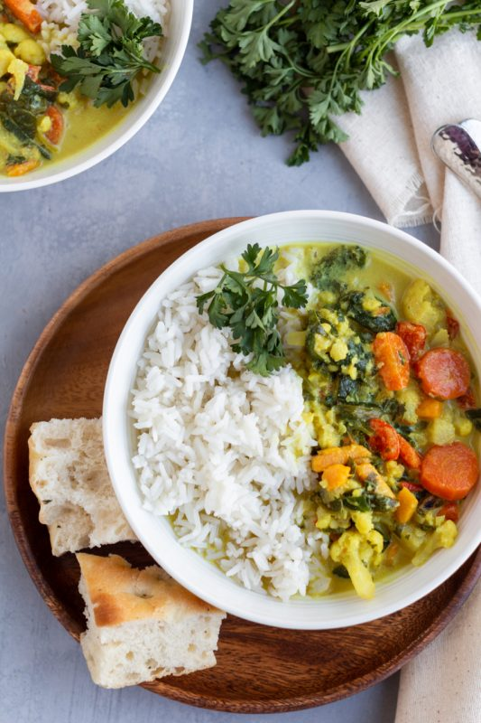 Coconut Ginger Rice Soup