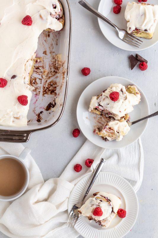 Chocolate Raspberry Sweet Rolls