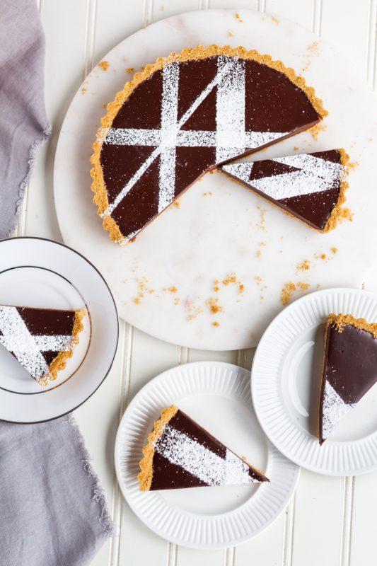 refined sugar free Chocolate Tart