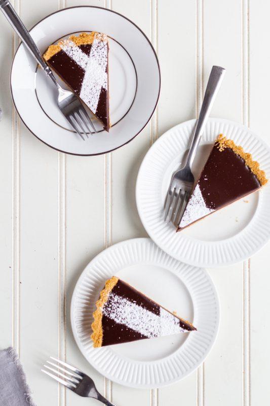 chocolate whiskey tart