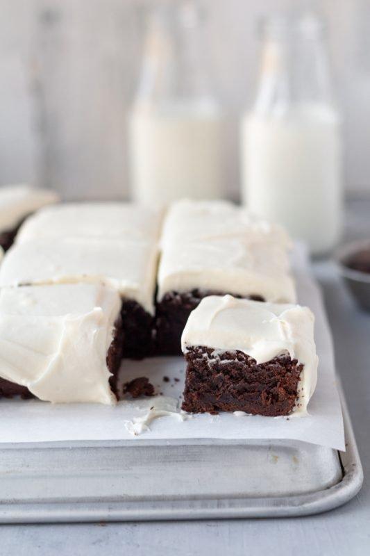 Frosted Chocolate Irish Cream Brownies