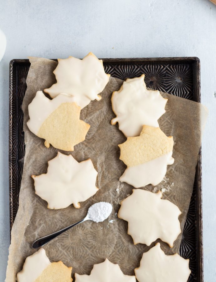 Maple Sugar Cookies with Maple Frosting
