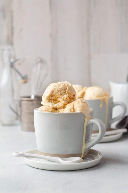 No-Churn Caramel Swirl Ice Cream