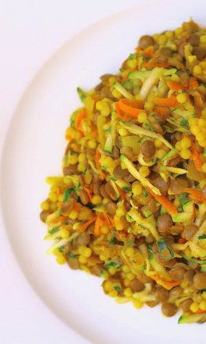 Lentils and Couscous with Carrots and Zucchini